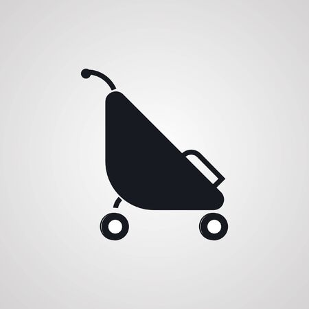 image size: baby stroller with the child, vector image, any size in perfect quality.icon, symbol, logo. Illustration