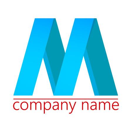 m: M logo. logotype. Illustration