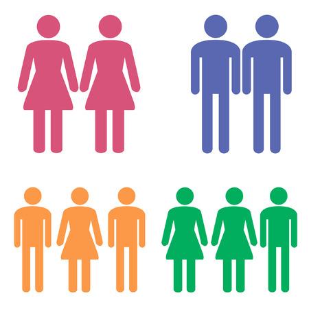 girl: stick hero. girl girl, girl man. Illustration