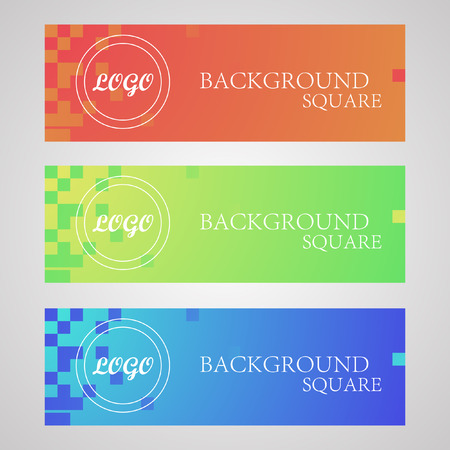 ides: horizontal logo, squares Illustration