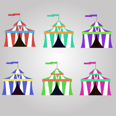 circus background: circus tent