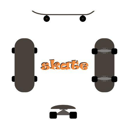 sides: skate on all sides Illustration
