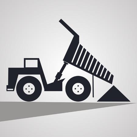 gravel: truck pours sand, gravel Illustration