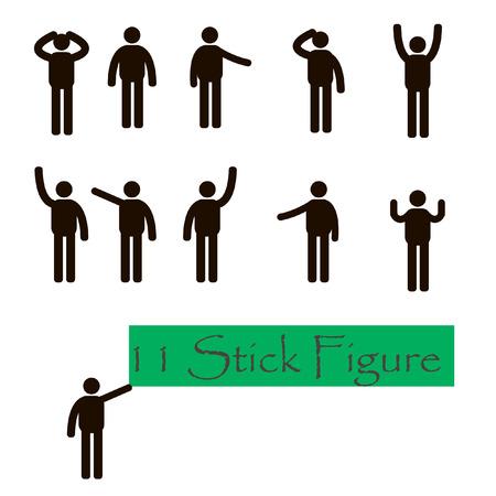 lenguaje corporal: Pegue la figura del hombre, Vectores