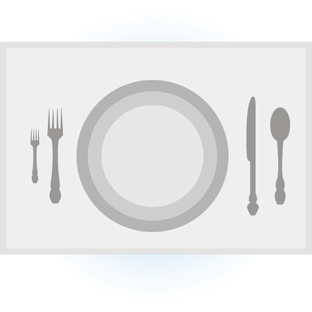 fork and spoon knife: kit, plate, fork, spoon, knife, on the table