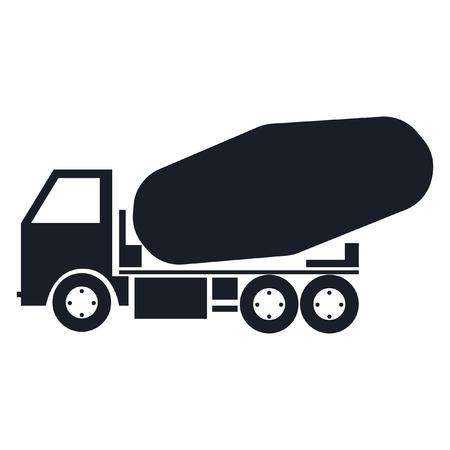 truck concrete mixer: truck, concrete mixer truck. vector, easy change colors