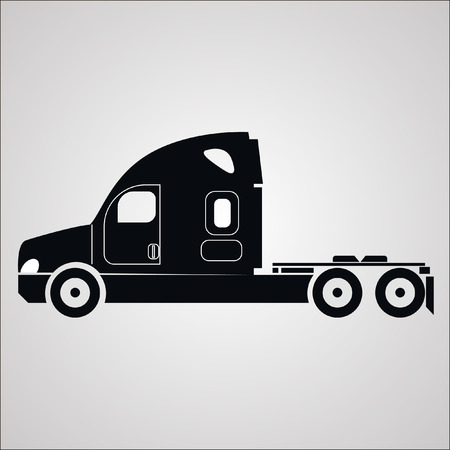 any size: American truck without a trailer vector images of any size in perfect quality. icon, icon, symbol, logo Illustration