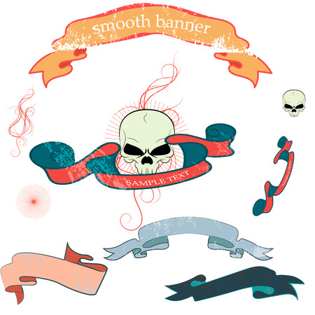 needed: Vintage banners and ribbons needed for the emblems  . Ribbons  in grunge style.   Illustration