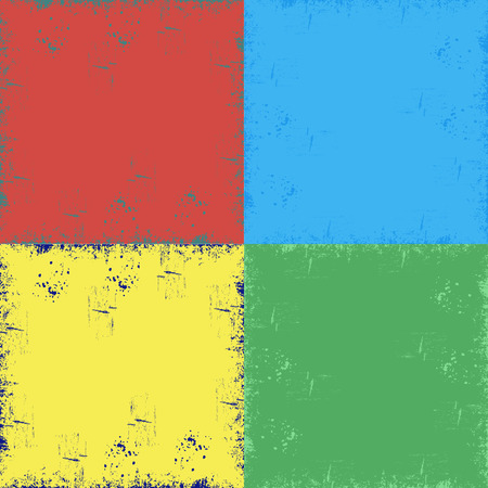 texture: four background, blue, green, red, yellow, scratches, grunge. dirty, scratched background