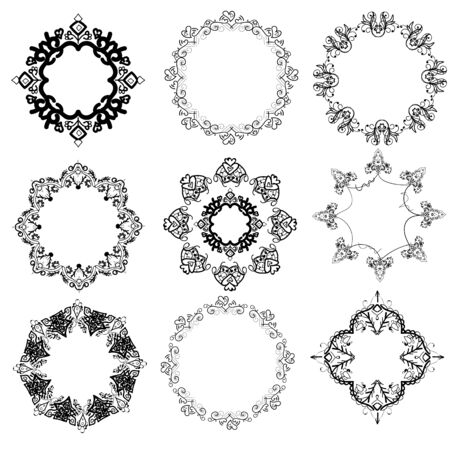 circle design: handwritten pattern. vector, isolated from the background. Illustration