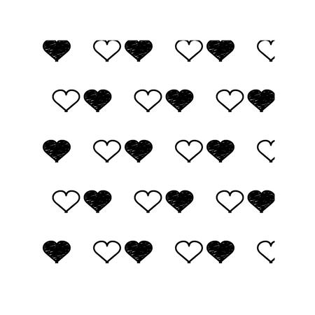 8 bit: heart, heart made of squares, 8 bit heart, pattern, vector illustration