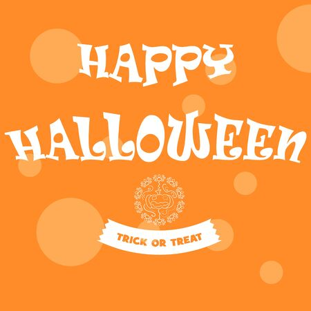 happy Halloween, banner, leaflet, flyer, pumpkin, hand-drawing