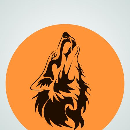 lobo: aullando a la luna del lobo