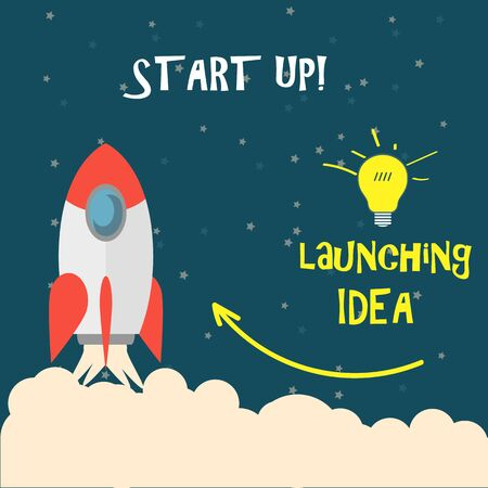 launching: Startup, launching, the rocket takes off.