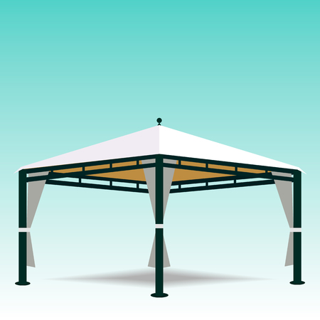 Illustration of a white canopy   イラスト・ベクター素材