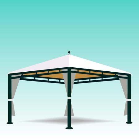 Illustration of a white canopy  Stock Illustratie