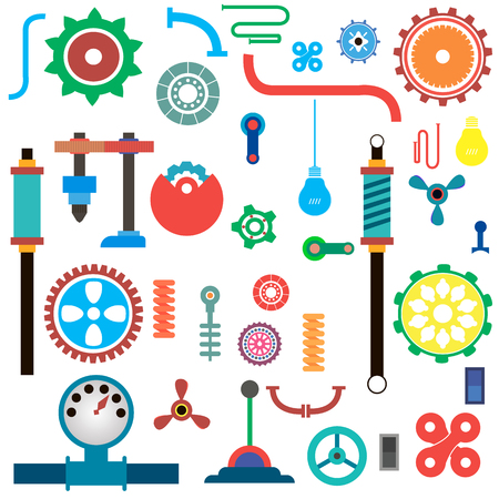 set of parts of machinery