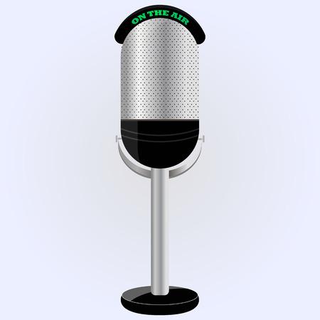 microfono de radio: micr�fono en la pierna. micr�fono proffessional. vector. se puede utilizar como un icono.