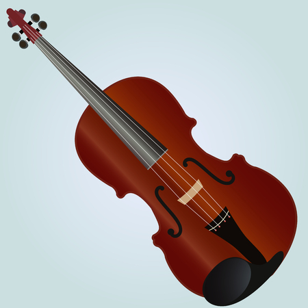 fiddle bow: violin. vector illustration, can be used as an icon.