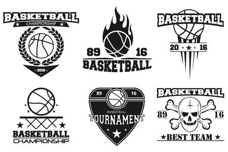 set basketball emblems and logos