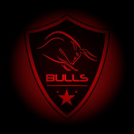 eam logo of the bulls Vectores