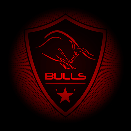 eam logo of the bulls Illustration