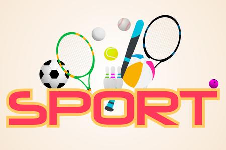 sport concept. Sports equipment background.