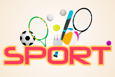 sports equipment: sport concept. Sports equipment background.
