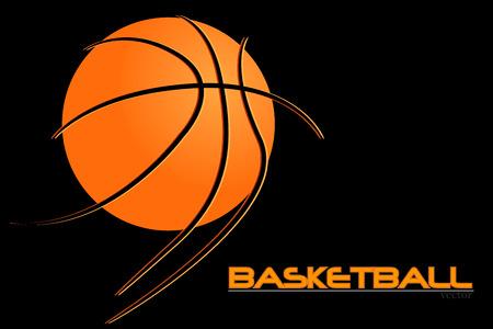 vector basketball design element. Basketball ball. vector Vektorové ilustrace