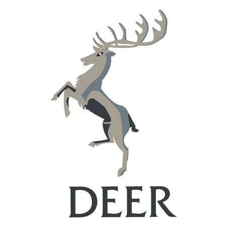 Deer on a white background. illustration.