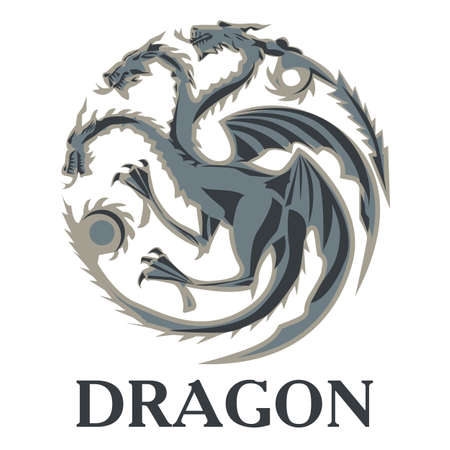 snow queen: Dragon. perfect for printing on t-shirts