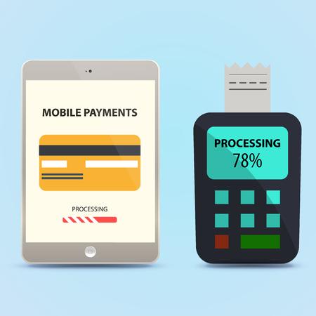 via: payment via tablet.