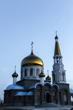 Russian Church. the city of Volzhsky. Stock Photo