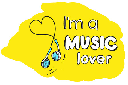portable audio: im a music lover. motivating picture. great for printing on t-shirts.