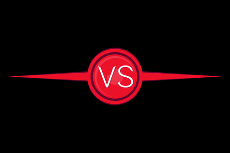 VS. One against the other. The icon is red.