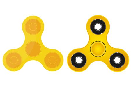 Hand spinner. Children's toy. Spiner. Gold edition. Vectores