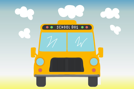 School bus. Back to school. Vector illustration.