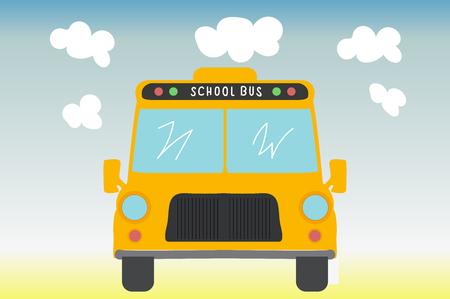 School bus. Back to school. Vector illustration.