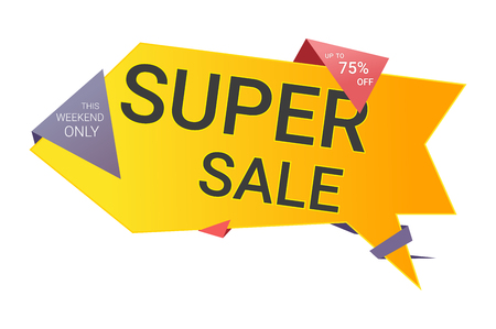 Super discounts vector illustration