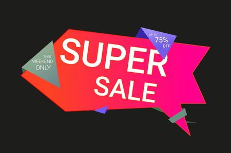 Super discounts vector illustration