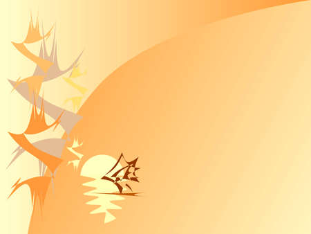 Vector  backgrounds summer evening in China. Stock Vector - 3667145