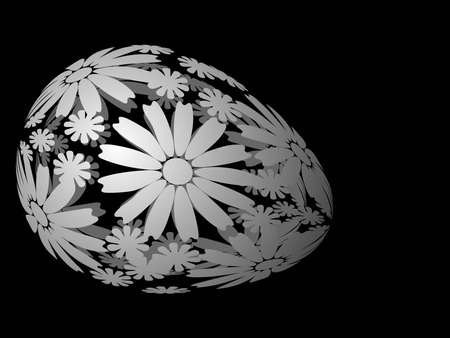 Easter egg with floral ornament, vector illustration Vector