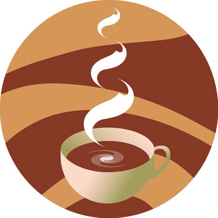 vector illustration - cup hot coffee Illustration
