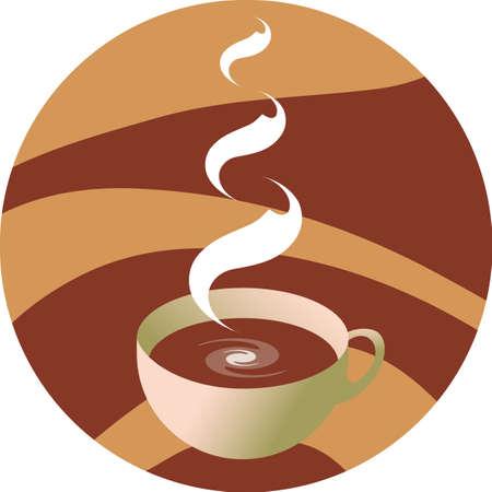 vector illustration - cup hot coffee Illustration
