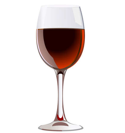 a glass of red wine Illustration