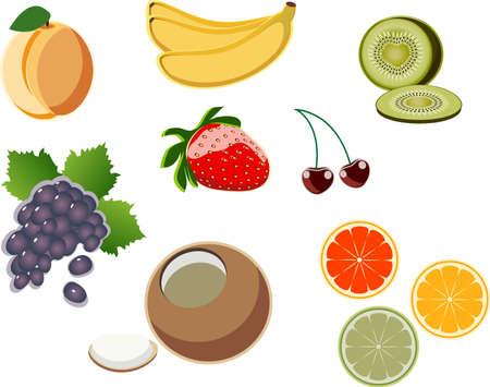 imagenes vectoriales: un conjunto de im�genes vectoriales frutas ? 1