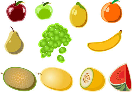 a set of vector images fruit № 2