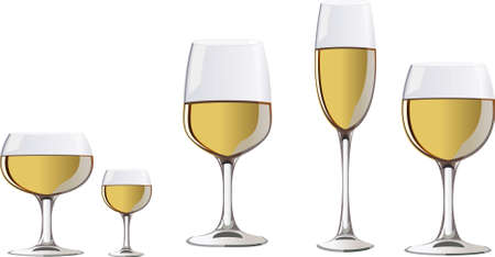 a glass of white wine Stock Vector - 3679964
