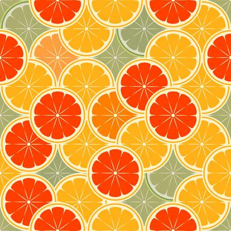 orange paradise -seamless vector
