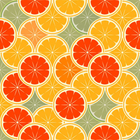 orange paradise -seamless vector